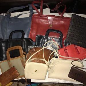 LRG COACH Vintage Bag Lot for Repair & Resale